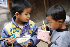 The chinese miao children Stock Image