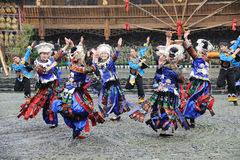 The chinese miao dancing stock photography