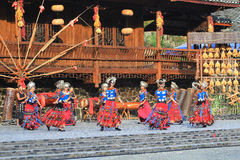 The chinese miao dancing Royalty Free Stock Photography