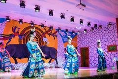 The chinese miao dancing Royalty Free Stock Photo