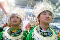 Chinese Miao girls Stock Photo