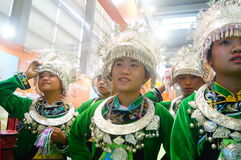 Chinese Miao girls Royalty Free Stock Photography