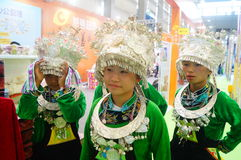 Chinese Miao girls Royalty Free Stock Photos