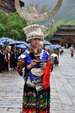 The chinese miao lady Royalty Free Stock Images