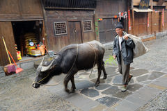 Chinese Miao nationality farmer Stock Image