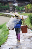 Chinese Miao nationality farmer Stock Photos
