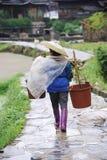 Chinese Miao nationality farmer Stock Photos