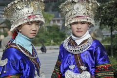 Chinese Miao nationality girls Stock Photos
