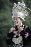 Chinese Miao nationality woman Royalty Free Stock Image