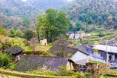 The chinese miao nationality wooden house Royalty Free Stock Photography