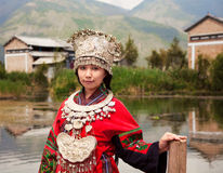 Chinese Miao People. Girl from Miao people China stock photo