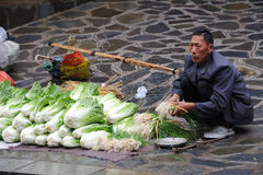 Chinese miao Street vendor Royalty Free Stock Photo