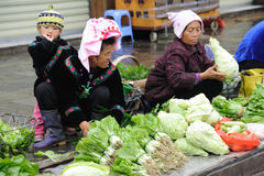 Chinese miao Street vendor Stock Images