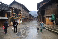Chinese miao village in guizhou Stock Images