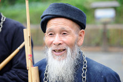 An chinese miaos old man Royalty Free Stock Photos