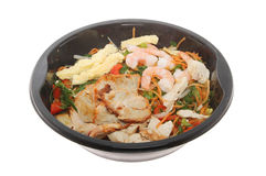 Chinese microwave meal isolated Royalty Free Stock Photos