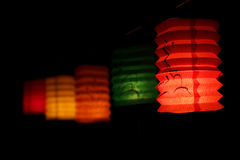 Chinese mid autumn festival Lantern. In dark or black Royalty Free Stock Image