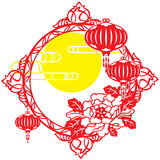 Chinese Mid Autumn festival and New year design Stock Images