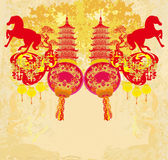 Chinese Mid Autumn festival and New year design element Royalty Free Stock Photos