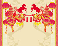 Chinese Mid Autumn festival and New year design element Royalty Free Stock Images
