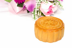 Chinese mid-autumn festival  on white background Stock Image