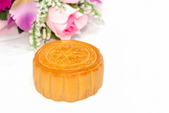 Chinese mid-autumn festival  on white background Royalty Free Stock Image