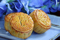 Chinese Mid-Autumn moon cake Royalty Free Stock Photo
