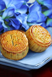 Chinese Mid-Autumn moon cake Stock Image