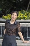 Chinese middle aged woman Royalty Free Stock Photos