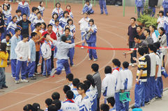 Chinese middle school running game Royalty Free Stock Photography