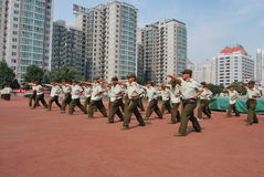 Chinese military training for students 6 Stock Photo