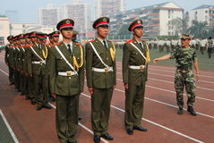 Chinese military training for students 14 Royalty Free Stock Image