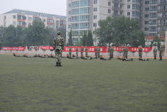 Chinese military training for students 18 Stock Image