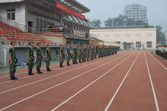 Chinese military training for students 19 Stock Photography