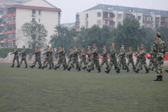 Chinese military training for students 21 Stock Photos