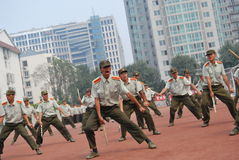 Chinese military training for students 22 Stock Photo