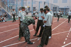 Chinese military training for students 23 Stock Image