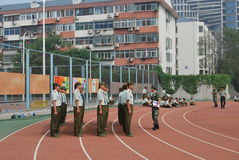 Chinese military training for students 24 Royalty Free Stock Image