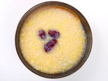 Chinese millet porridge Stock Images