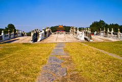 Chinese Ming Dynasty imperial tombs in zhongxiang. Chinese Ming Dynasty imperial tombs,Architecture Stock Images