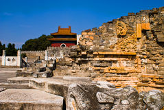 Chinese Ming Dynasty imperial tombs in zhongxiang. Chinese Ming Dynasty imperial tombs,Architecture Royalty Free Stock Images