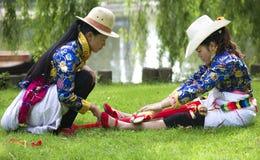 Chinese Minority Weaving Stock Image