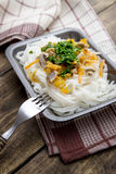 Chinese mix vegetables and rice noodles Royalty Free Stock Photography