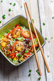 Chinese mix vegetables with rice and shrimp Royalty Free Stock Image