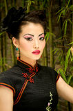 Chinese Model Bamboo Royalty Free Stock Photography