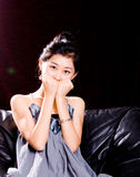 Chinese Model In Skirt Royalty Free Stock Image