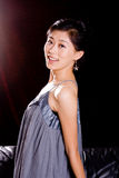Chinese Model In Skirt Royalty Free Stock Photos