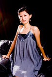Chinese Model in Skirt Royalty Free Stock Photo