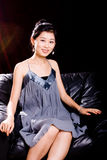 Chinese Model in Skirt Stock Images