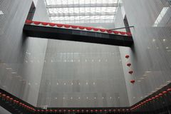 Chinese modern building interior Stock Photos